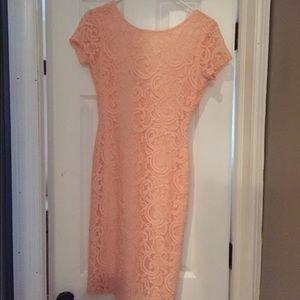 Dresses & Skirts - Blush colored lace dress
